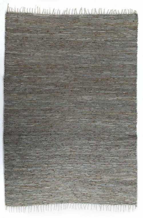 שטיח חבל דנים עור אפור