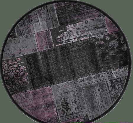 שטיח עגול בסגנון פאצ' אפור