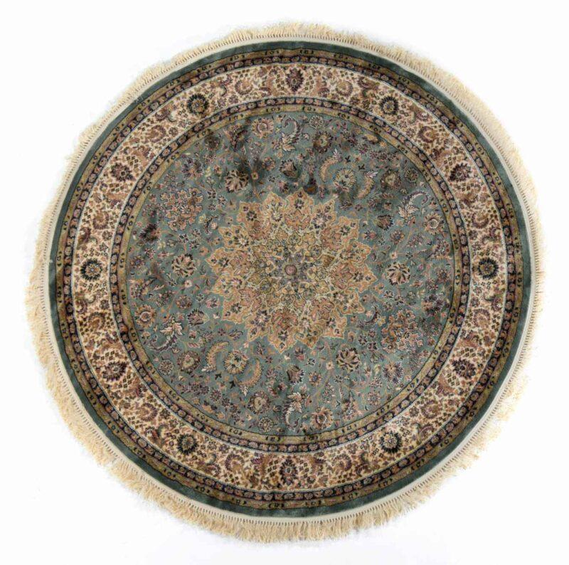 שטיח עגול קלאסי ירוק