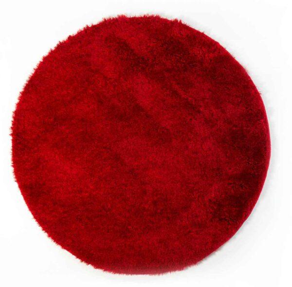 שטיח שאגי עגול אדום