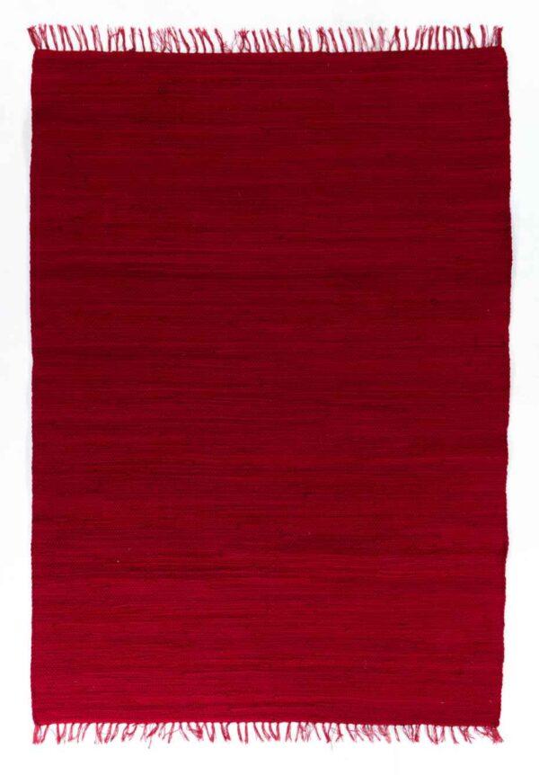 שטיח כותנה אדום