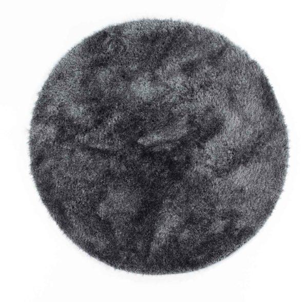 שטיח שאגי עגול אפור