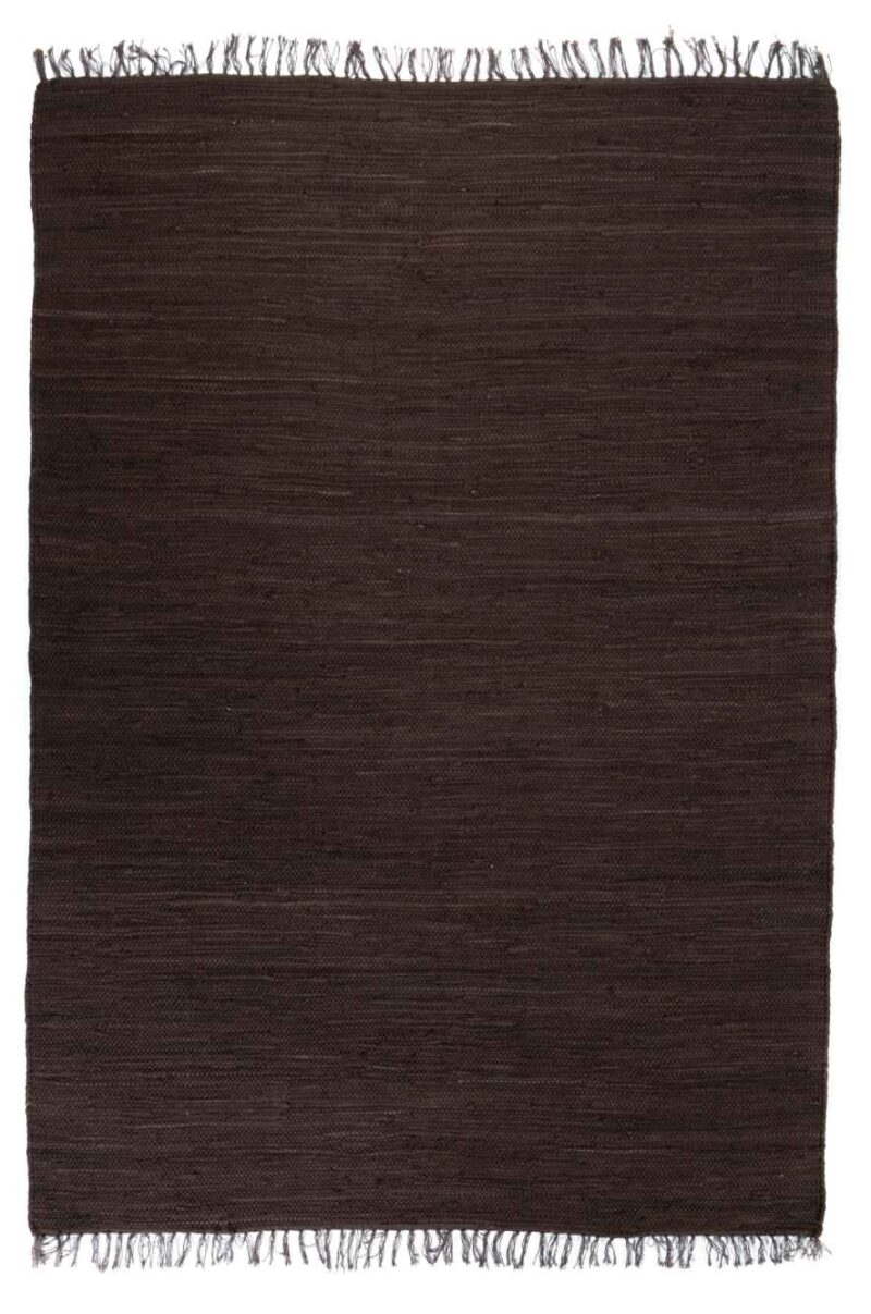 שטיח כותנה חום שחור
