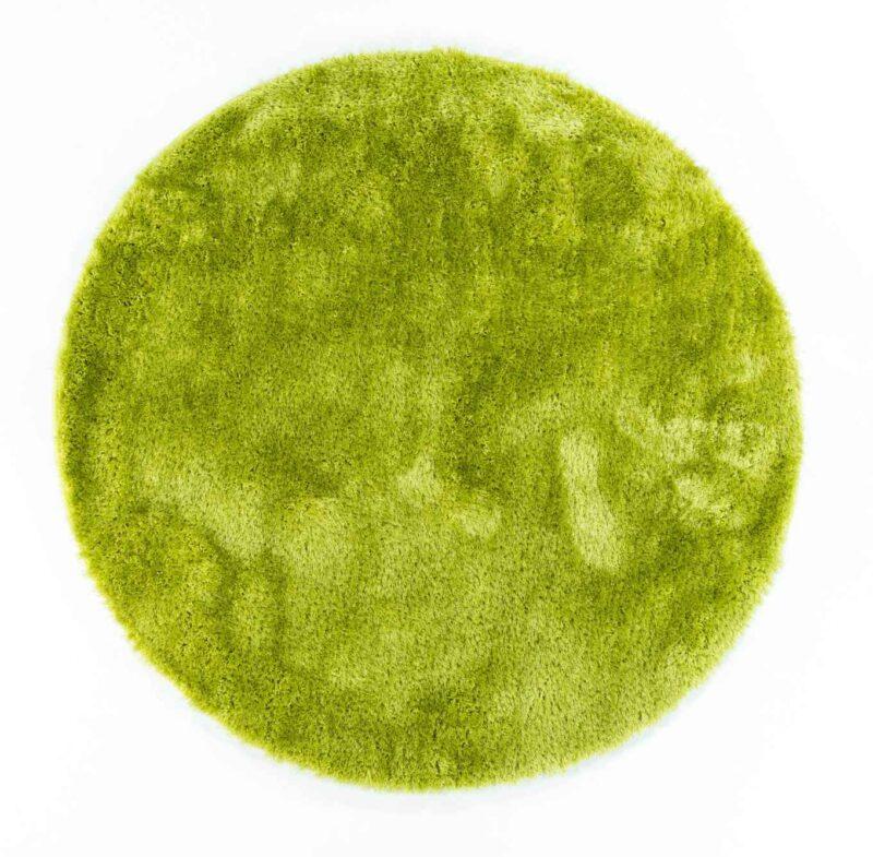 שטיח שאגי ירוק עגול