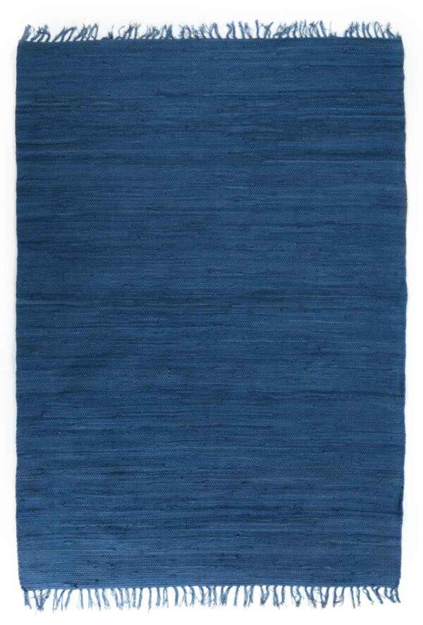 שטיח כותנה כחול