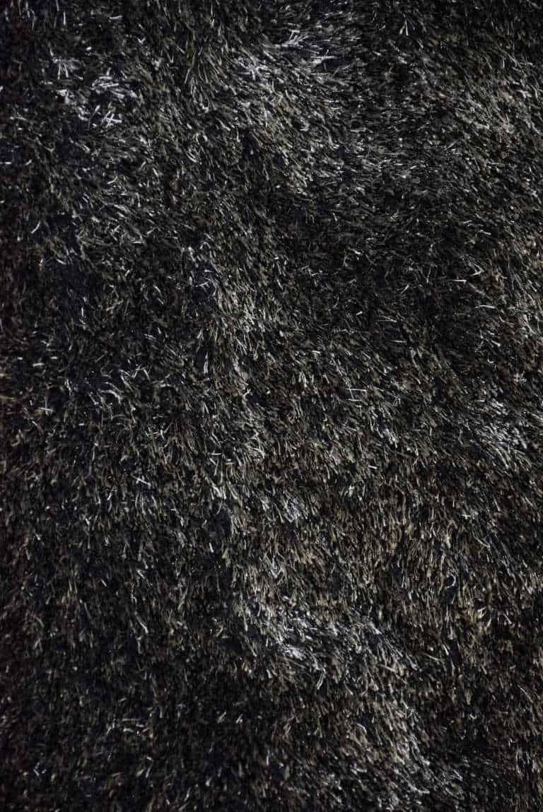 שטיח שאגי שחור לבן