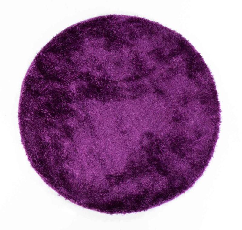 שטיח שאגי עגול סגול
