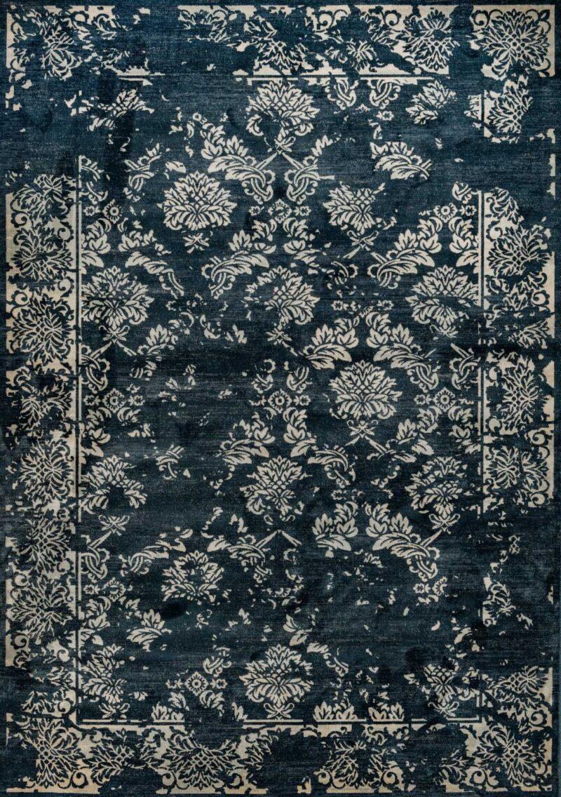 שטיח וינטג' שחור דוגמה קלאסית