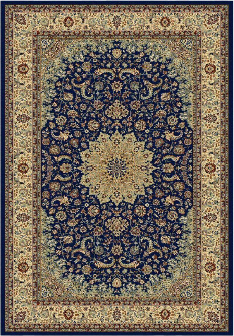 שטיח קלאסי דוגמת מדליון כחול
