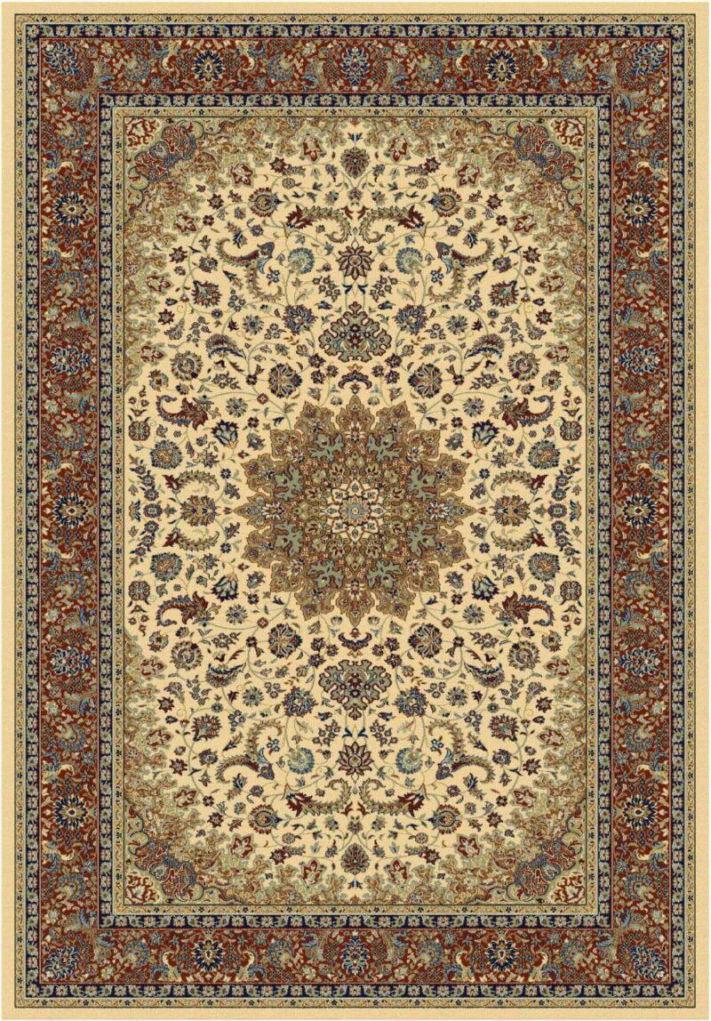 שטיח קלאסי דוגמת מדליון בז'