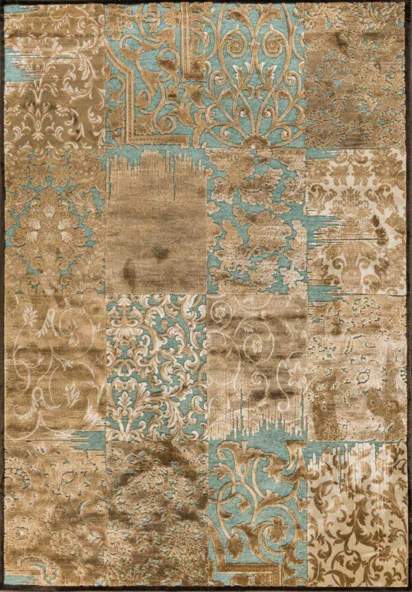 שטיח מודרני בדוגמת פאצ'