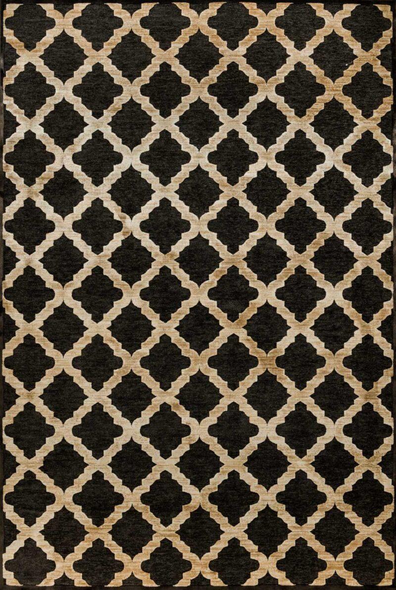 שטיח מודרני גאומטרי בדוגמת מעוינים