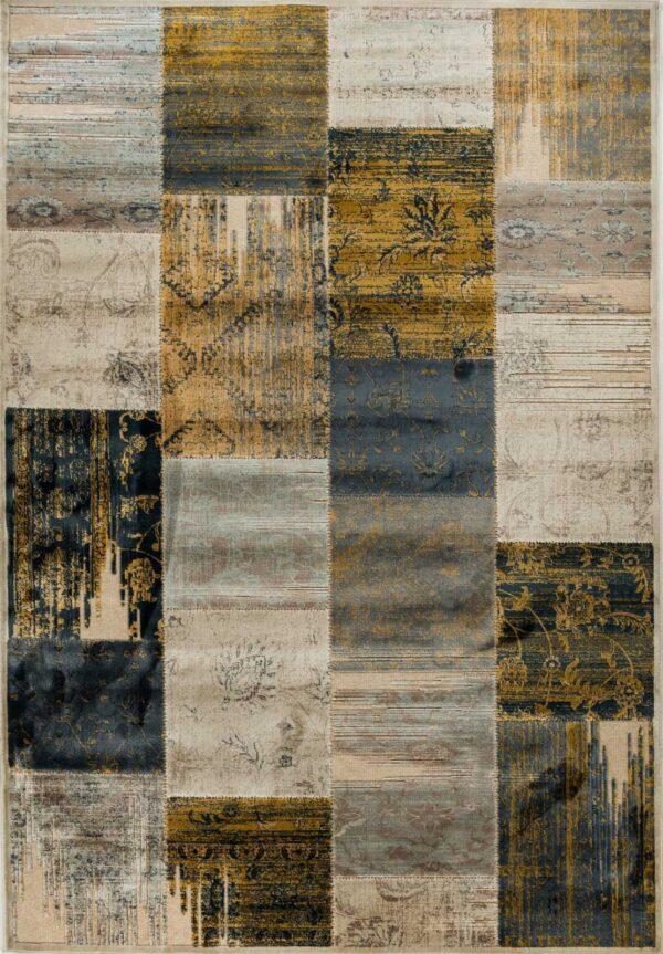 שטיח מודרני דוגמת פאצ' צבעוני