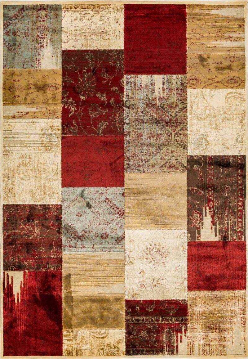 שטיח מודרני דוגמת פאצ'