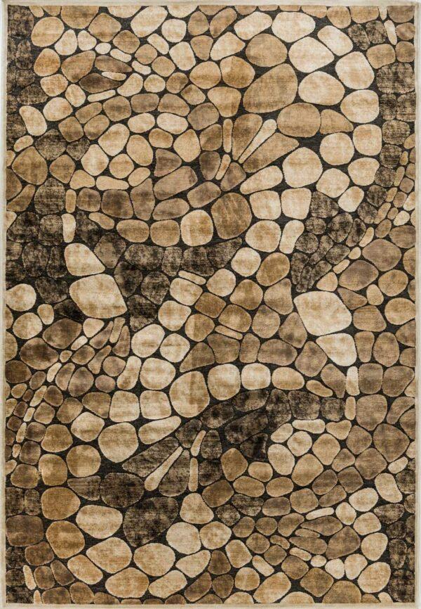 שטיח מודרני דוגמת אבנים