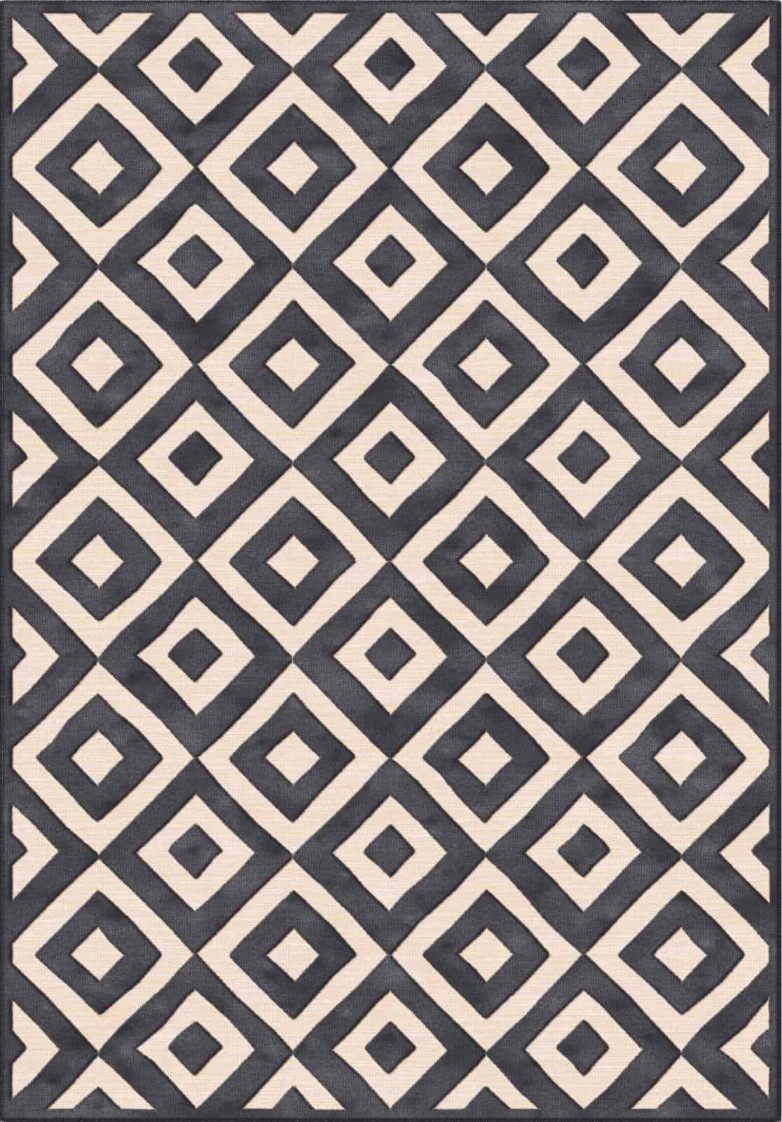 שטיח מודרני גאומטרי דוגמת מעוינים