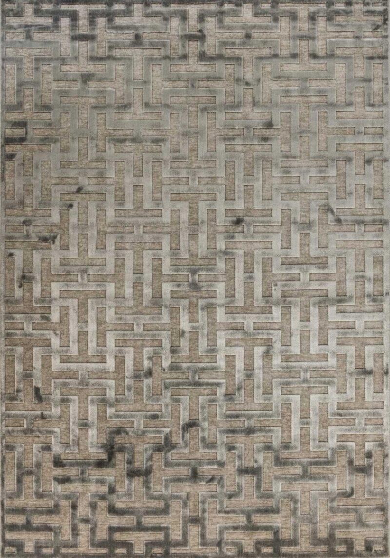 שטיח מודרני גאומטרי דוגמת מבוך