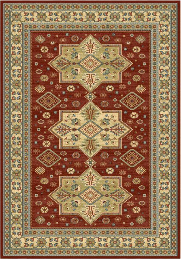 שטיח קלאסי דוגמת קאזק אדום