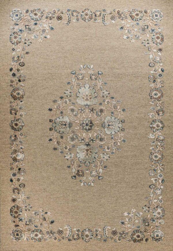 שטיח מודרני מדליון תכלת