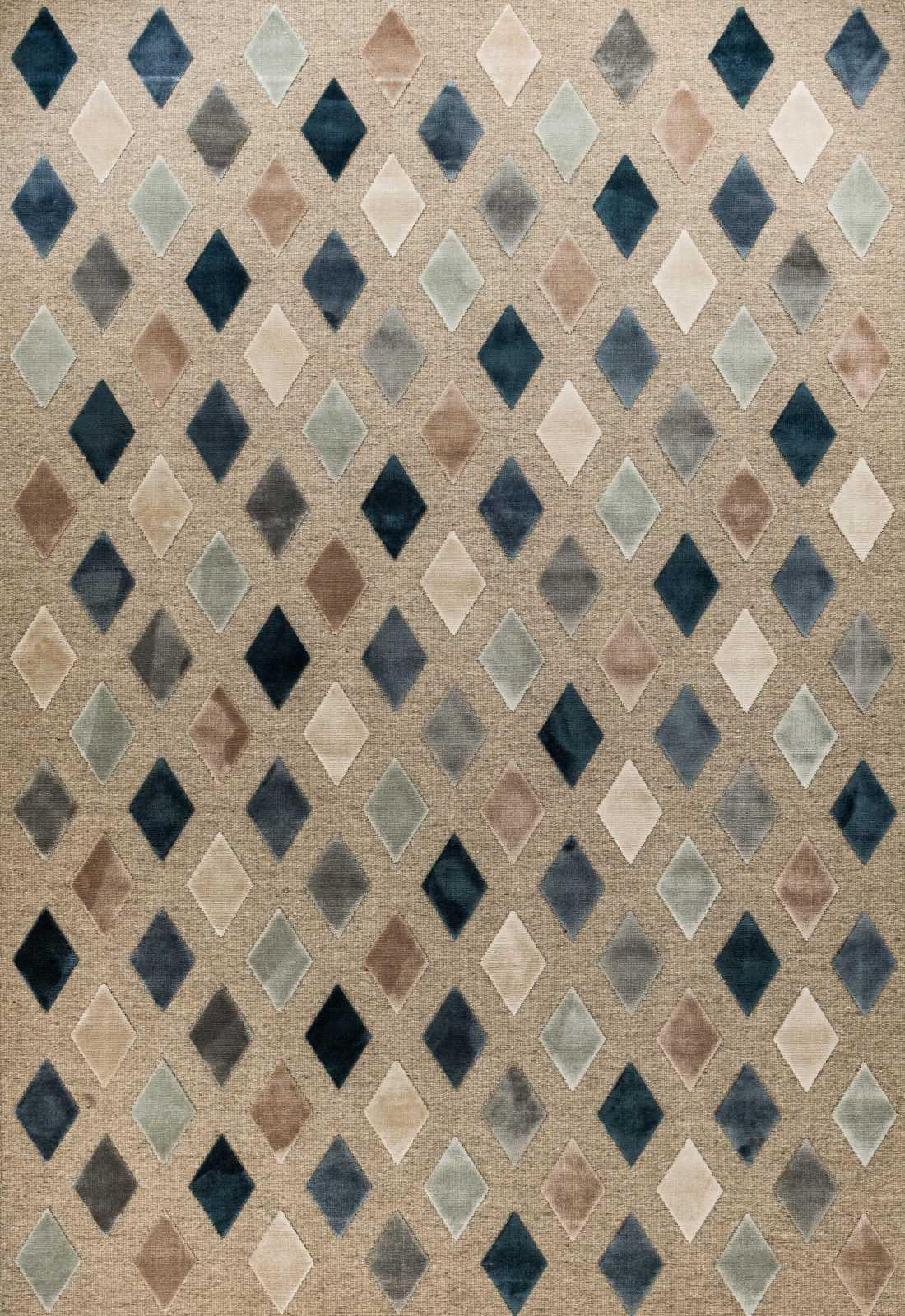 שטיח מודרני מעויינים צבעוני