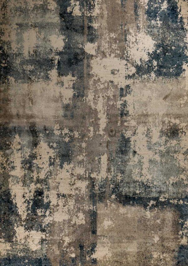 שטיח כחול בדוגמאת פיקסו