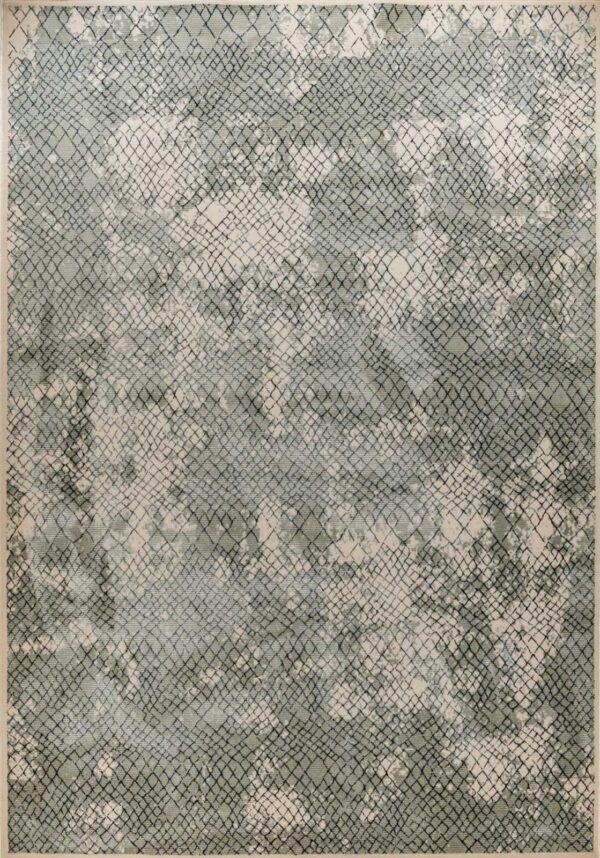 שטיח בדוגמת רשת צבע ירוק