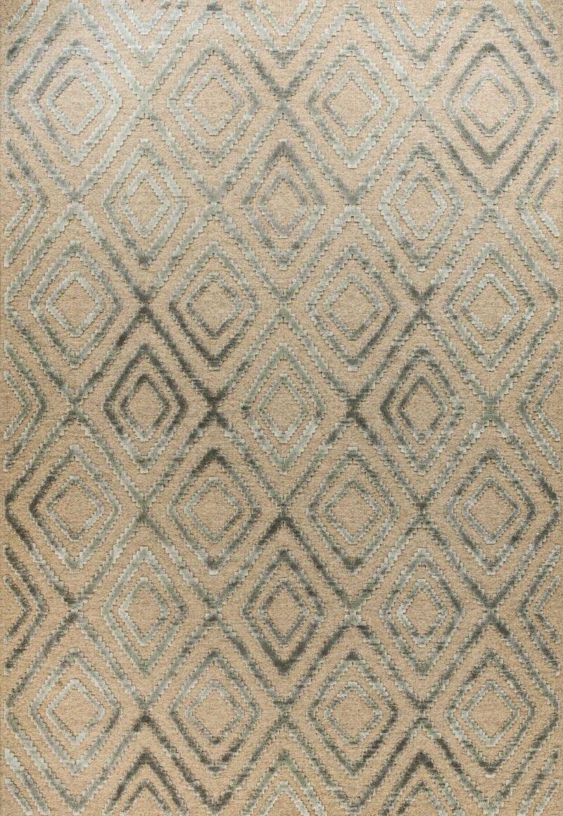 שטיח וינטייג' בצבע אפור בסגנון מרוקאי