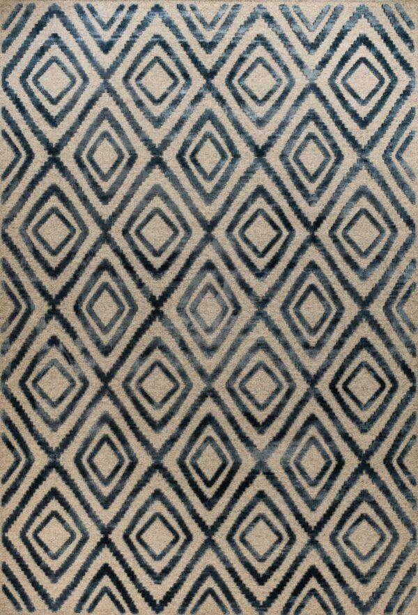 שטיח וינטייג' בצבע כחול בסגנון מרוקאי