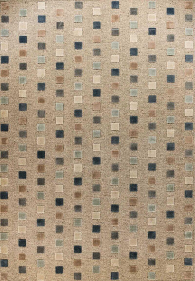 שטיח גאומטרי ריבועים קטן צבעוני