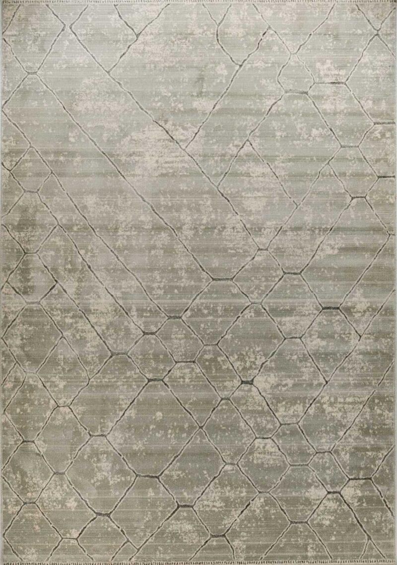 שטיח מודרני דוגמת רשת גדול כחול