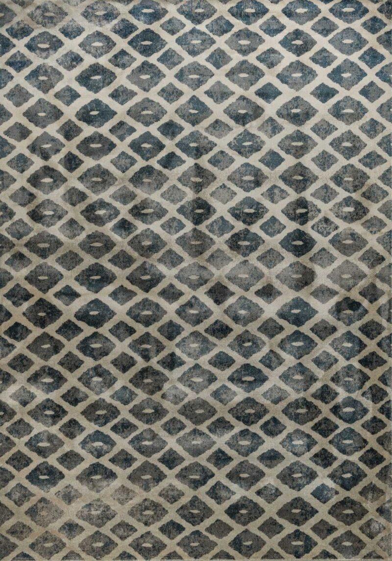 שטיח מודרני דוגמת מעוינים שחוק