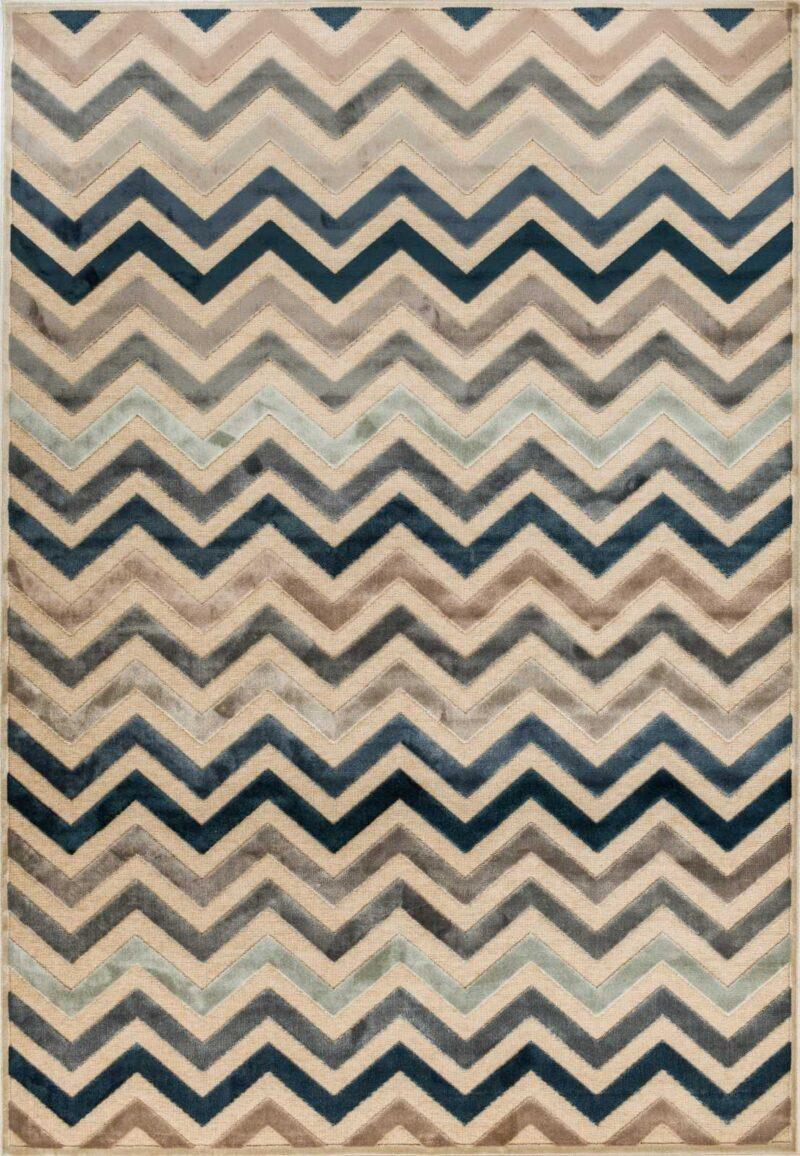 שטיח מודרני דוגמת זיגזג