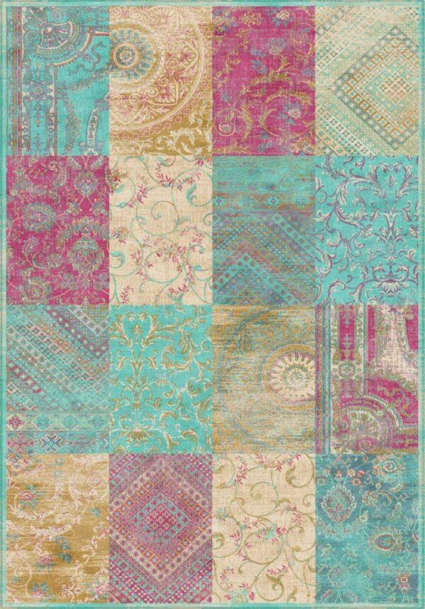 שטיח וינטג' בדוגמת פאצ'