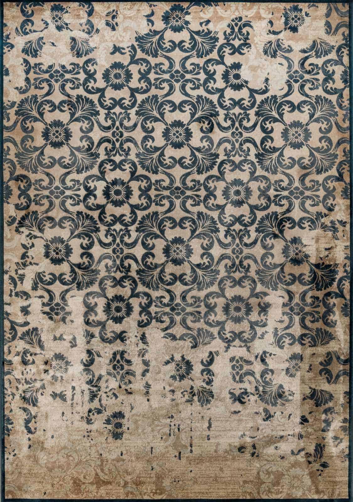 שטיח וינטג' דוגמת פרחים