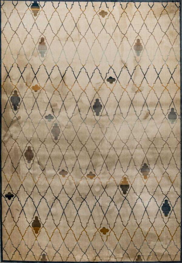 שטיח וינטג' גאומטרי מעוינים