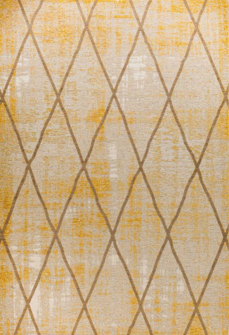 שטיח אופל גאומטרי צהוב