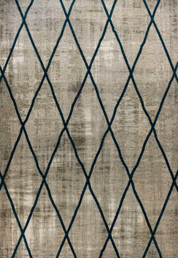 שטיח אופל גאומטרי איקסים כחול