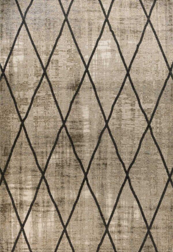 שטיח אופל גאומטרי איקסים אפור