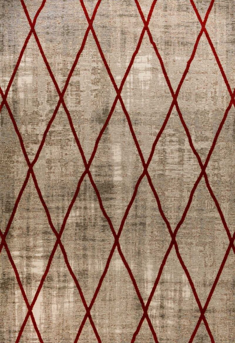 שטיח אופל גאומטרי איקסים אדום