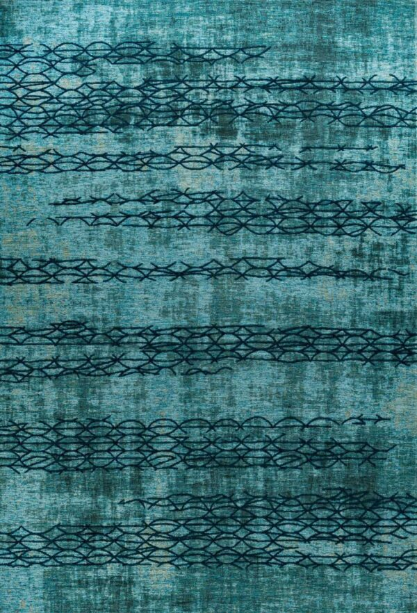 שטיח אופל חוטים טורקיז