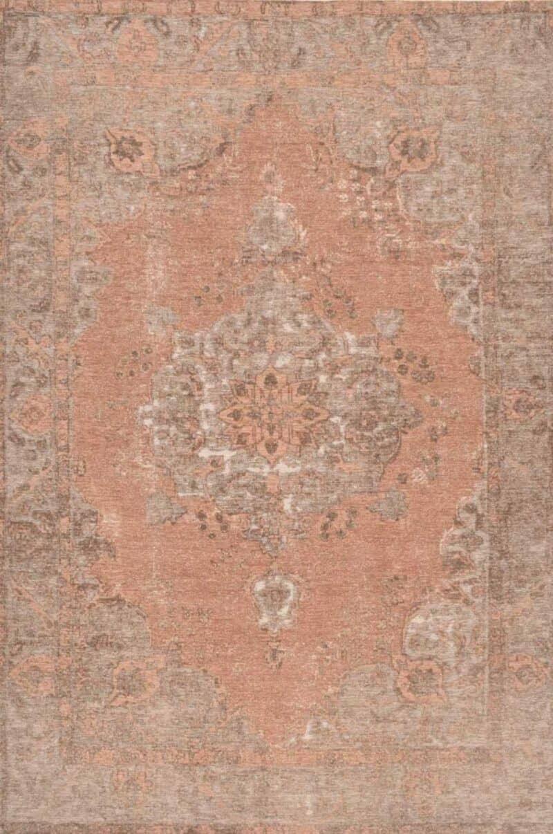 שטיח עם דוגמת מדליון צבע כתום