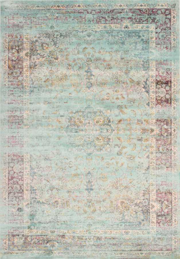 שטיח וינטייג' בצבע תכלת עתיק