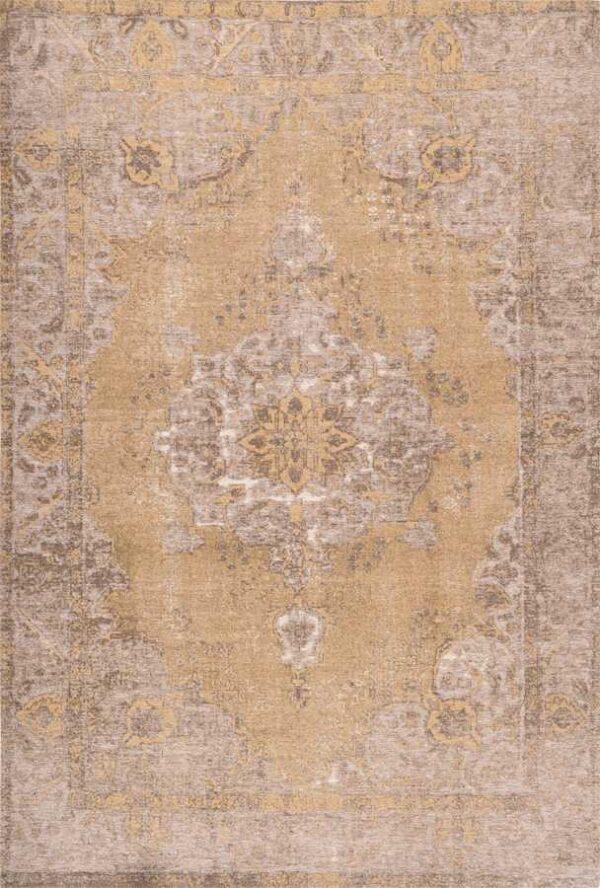 שטיח מודרני עם מדליון צבע צהוב