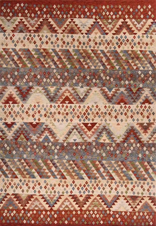 שטיח מודרני גיאומטרי בדוגמת קאזק