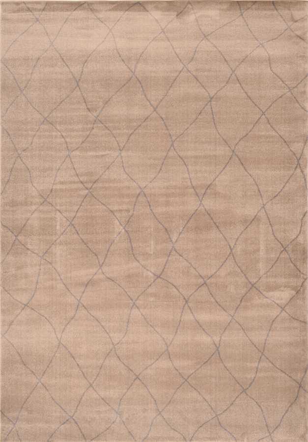 שטיח מודרני גיאומטרי צבע בז'