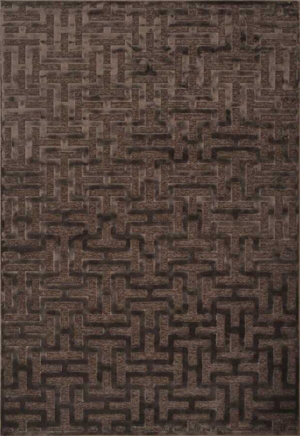 שטיח מודרני מבוך צבע חום