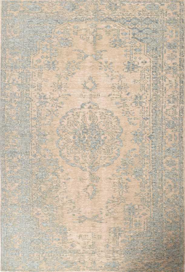 שטיח מודרני דוגמת מדליון צבע תכלת
