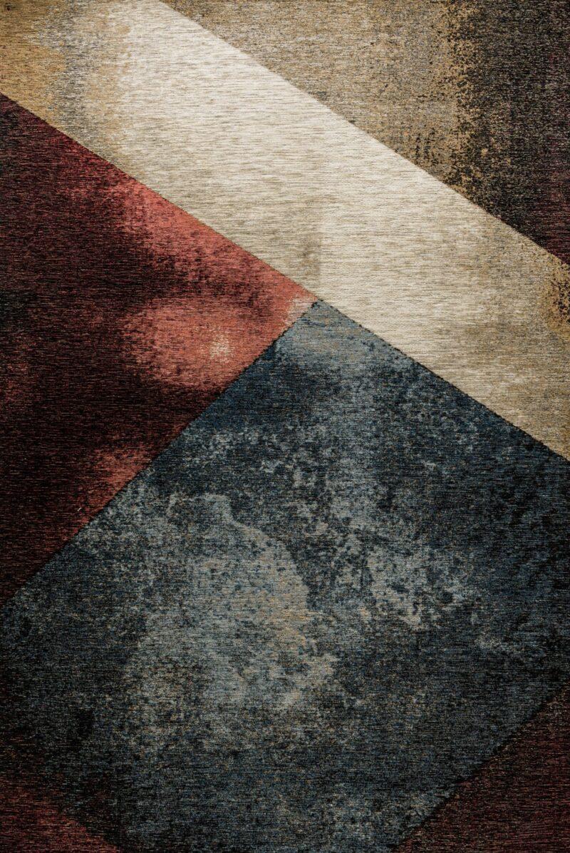 שטיח קרלוצ'י גיאומטרי בצבע כחול אדום