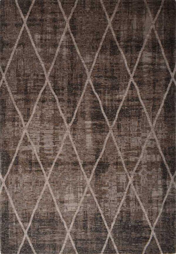 שטיח מודרני שחור דוגמת מעויינים