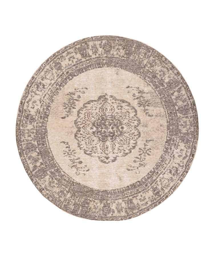 שטיח עגול דוגמת וינטייג'